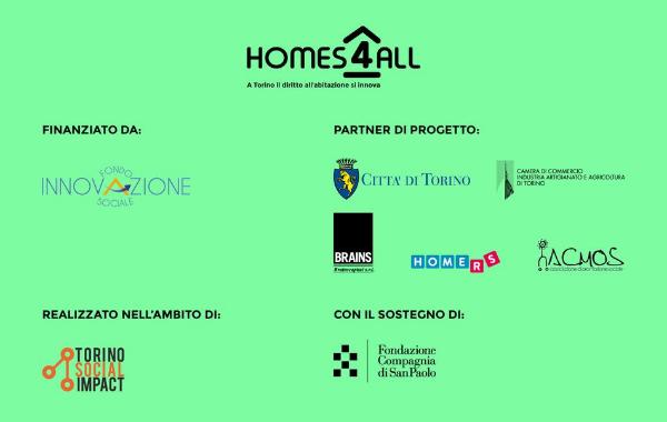Partner del progetto Homes4All - A Torino il diritto all'abitazione si innova
