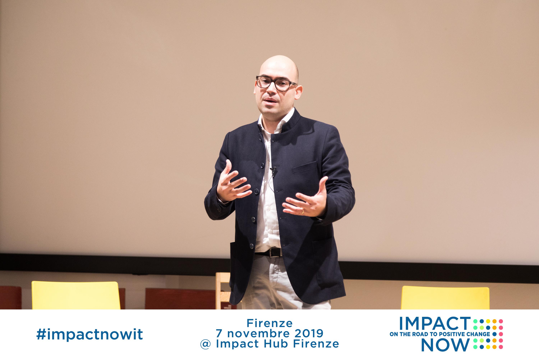 Giorgio Cucè racconta la sua storia di fallimento e di riscatto a Impact Now Firenze 2019
