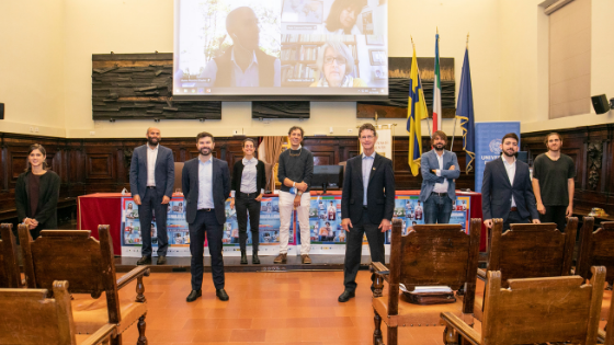 2 ottobre 2020, Aula Magna Università di Parma - I relatori alla fine degli interventi