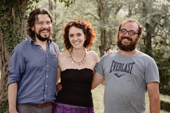Il team di Humus. Da sinistra: Claudio Naviglia, Elena Elia, Luca Barraco